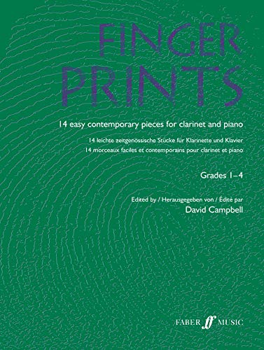 9780571522552: Fingerprints for Clarinet and Piano: Grade 1-4