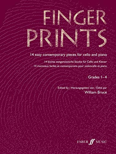 9780571522972: Fingerprints, Cello and Piano, Grades 1-4