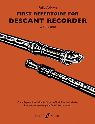 9780571523283: First Repertoire for Descant Recorder: with Piano (Faber Edition)