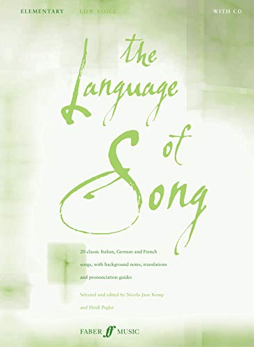 9780571523467: The Language of Song -- Elementary: Low Voice, Book & CD (Faber Edition)