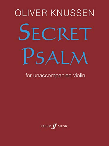 9780571525317: Secret Psalm: For Solo Violin (Part) (Faber Edition)