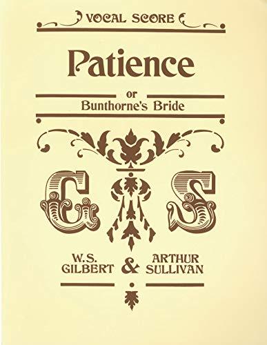 9780571525867: Patience (Vocal Score)