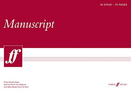 9780571527090: Manuscript A3 18-stave