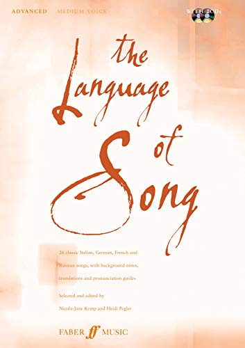 9780571530762: The Language of Song -- Advanced: Medium Voice, Book & CD (Faber Edition)