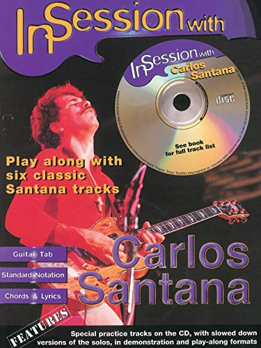 9780571531295: In Session with Carlos Santana: Guitar TAB, Book & CD (Faber Edition: In Session)