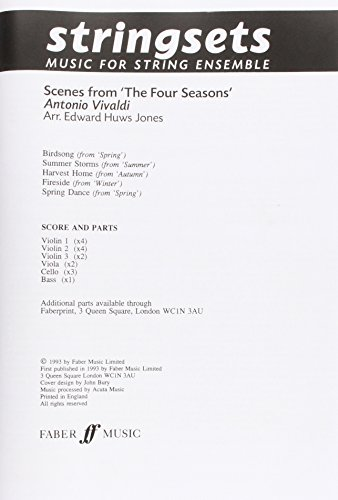9780571568611: Scenes from the Four Seasons: Score & Parts (Faber Edition: Stringsets)