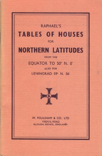 9780572002510: Raphael's Tables of Houses for Northern Latitudes