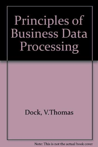 9780574191403: Principles of Business Data Processing