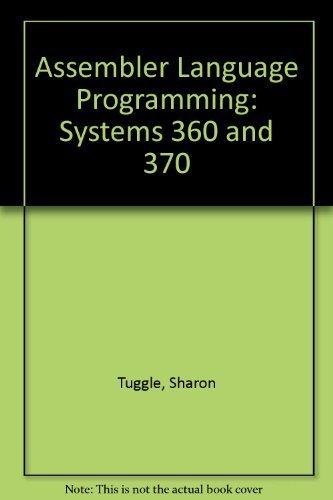Assembler Language Programming, Systems/360 and 370: Tuggle, Sharon K.