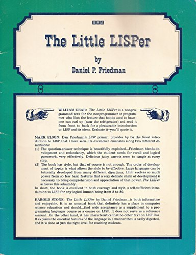 9780574191656: Little LISPer