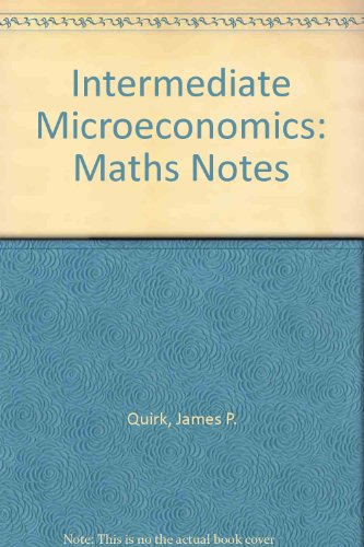 9780574192677: Intermediate Microeconomics: Maths Notes