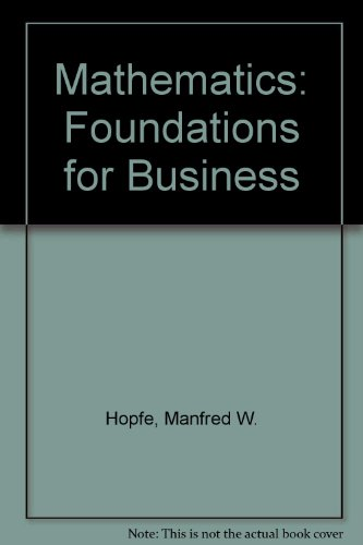 9780574193858: Mathematics: Foundations for Business