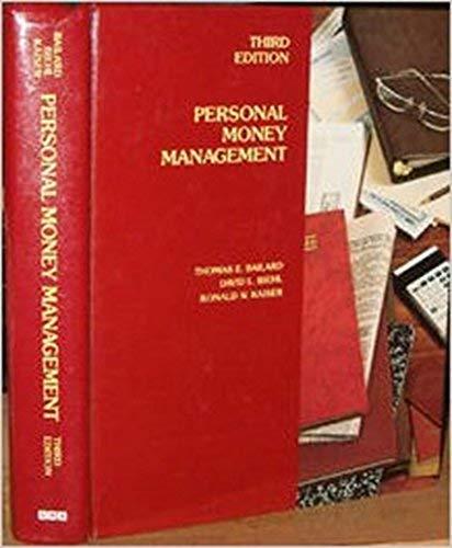 Personal Money Management: David L. Biehl;