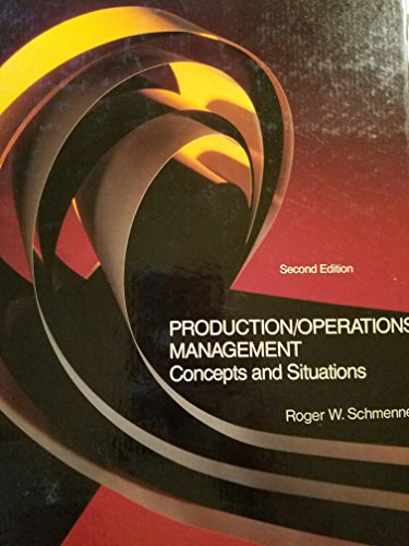 9780574194459: Production operations management: Concepts and situations