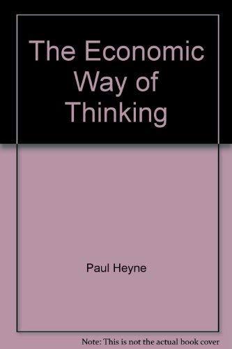 9780574194558: The Economic Way of Thinking