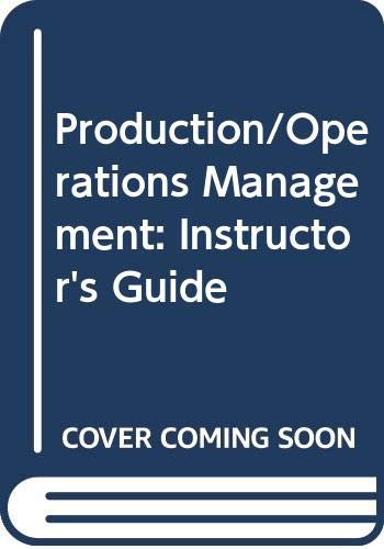 9780574195012: Production/Operations Management: Instructor's Guide