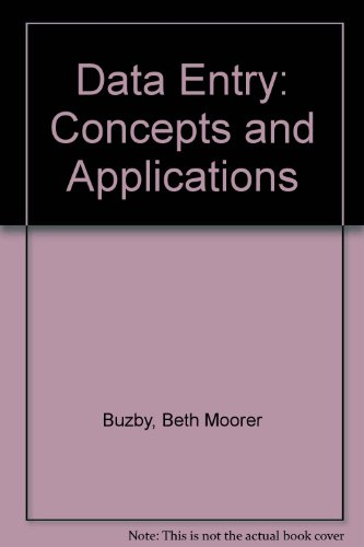 9780574200808: Data Entry: Concepts and Applications