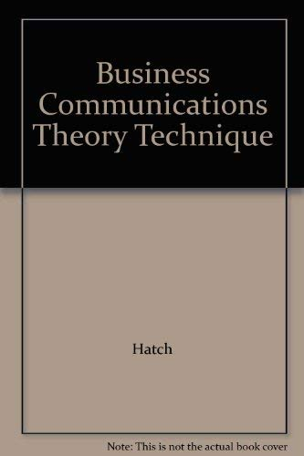 9780574200907: Business Communications Theory Technique