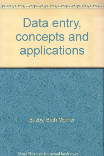 9780574212559: Data Entry: Concepts and Applications