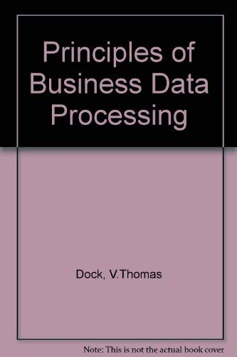 9780574212955: Principles of Business Data Processing