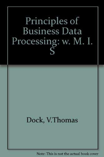 9780574213006: Principles of Business Data Processing (Mis)