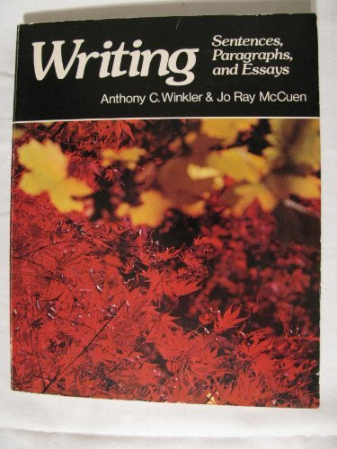 9780574220608: Writing Sentences Paragraphs Essays