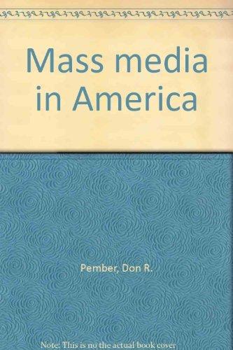 9780574226204: Mass Media in America