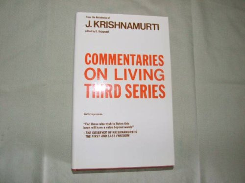 9780575002296: Commentaries on Living: 3rd Series