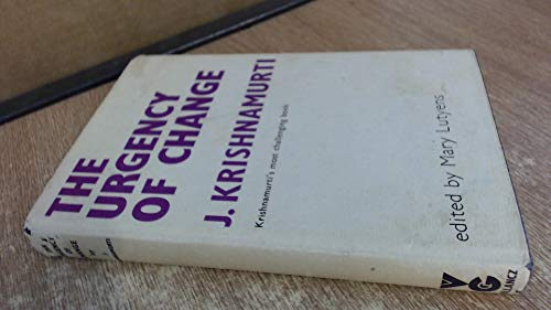 Urgency of Change (0575006358) by Krishnamurti, J.