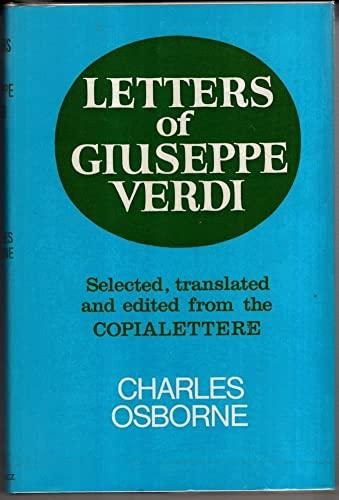9780575007598: Letters of Giuseppe Verdi;