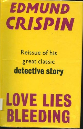 LOVE LIES BLEEDING: Crispin, Edmund