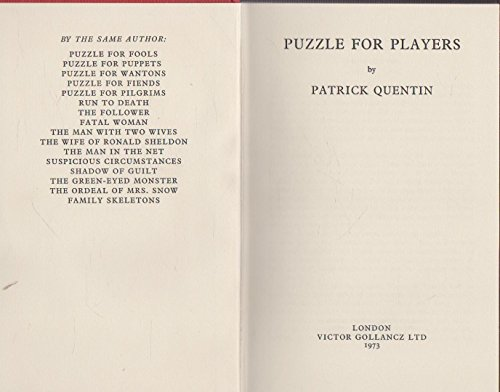 9780575016385: Puzzle for Players