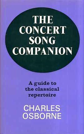 9780575018259: Concert Song Companion: A Guide to the Classical Repertoire
