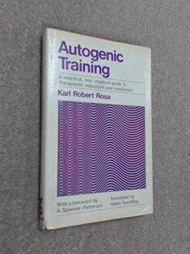 9780575021006: Autogenic Training