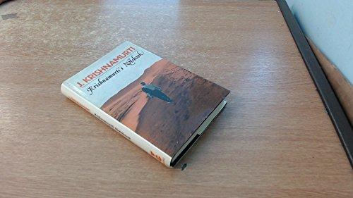 9780575021075: Krishnamurti's Notebook