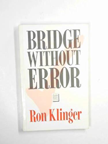 9780575029460: Bridge Without Error (Master Bridge Series)
