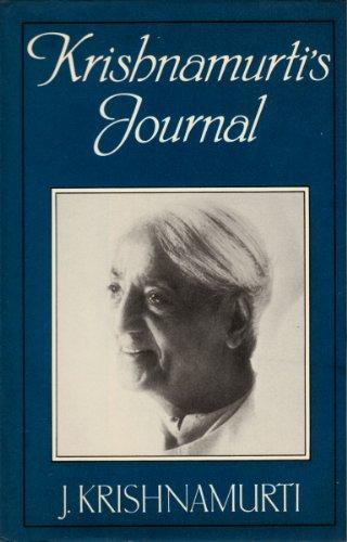 9780575030404: Krishnamurti's Journal
