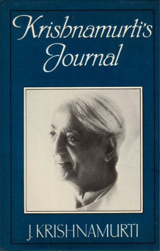 9780575030404: Krishnamurti's Journal