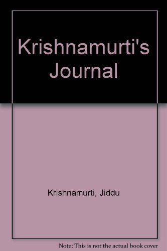 9780575031012: Krishnamurti's Journal