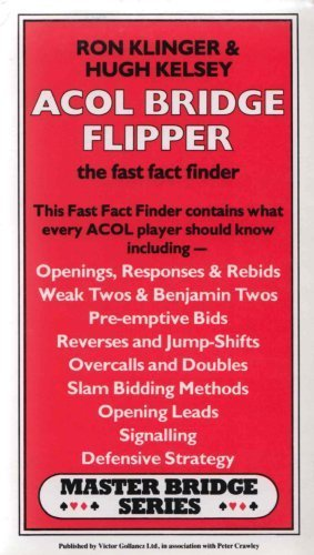 9780575034860: Acol Bridge Flipper: The Fast Fact Finder (Master Bridge Series)