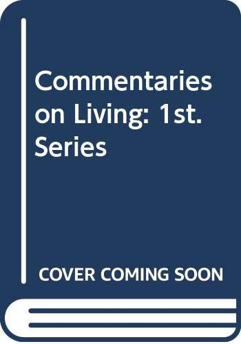 9780575037649: Commentaries On Living First Series