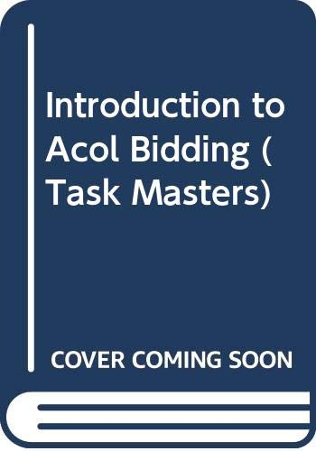 9780575045217: Introduction to Acol Bidding (Task Masters)