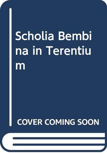 9780576722704: The Scholia Bembina in Terentium