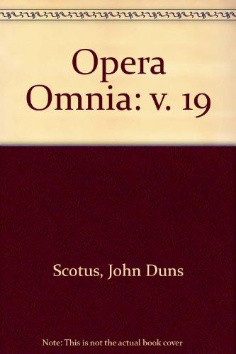 9780576999359: Opera Omnia: v. 19