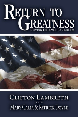 9780578043616: Return to Greatness: Driving the American Dream