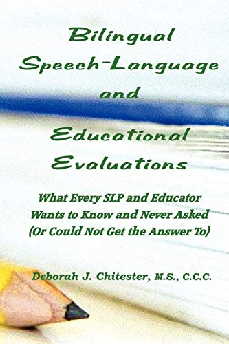 9780578075594: Bilingual Speech Language and Educational Evaluations