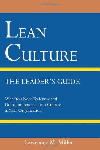 9780578075846: Lean Culture - The Leader's Guide