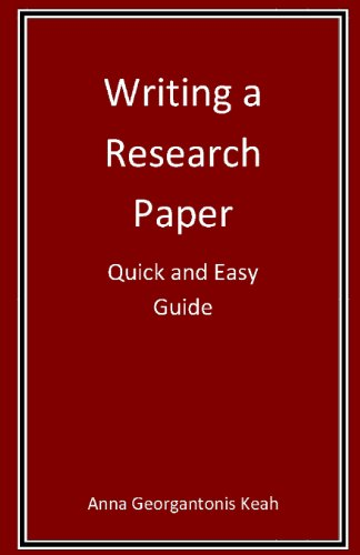 9780578086927: Writing a Research Paper: Quick and Easy Guide