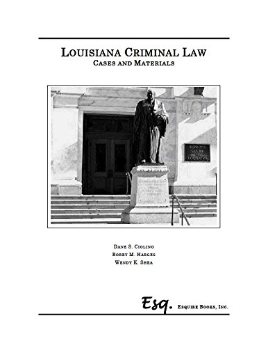 9780578123073: Louisiana Criminal Law Cases and Materials