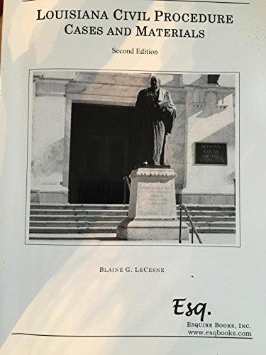 9780578153971: Louisiana Civil Procedure: Cases and Materials (Second Edition)